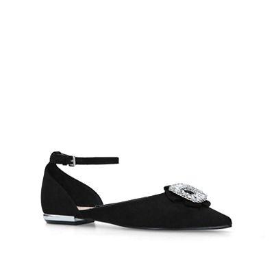 Miss Kg   Black 'jasmin' Flat Court Shoes by Miss Kg