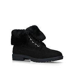 Miss KG - Black 'Jinny' faux fur biker boots