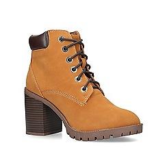 Miss KG - Tan 'Jill' mid heel boots