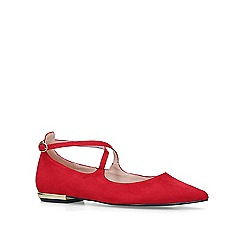Carvela - Red 'Moss' flat pumps