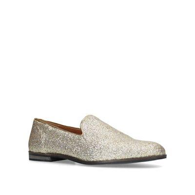 KG Kurt Geiger - Gold 'Finsbury' slip on loafers