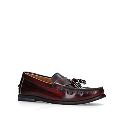 KG Kurt Geiger - Dark 'Naughton' red tassel loafers