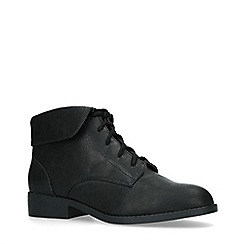 Miss KG - Black 'Jillian' Flat Lace Up Boots