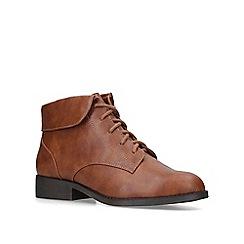 Miss KG - Tan 'Jillian' low heel lace up boots