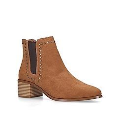 Miss KG - Tan 'Jubs' low heel ankle boots