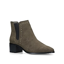 Miss KG - Khaki 'Jubs' low heel ankle boots