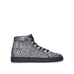 KG Kurt Geiger - Silver 'Parkes' high top trainers