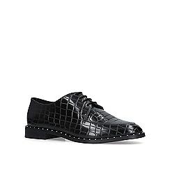 KG Kurt Geiger - Black 'Mali' croc print loafers