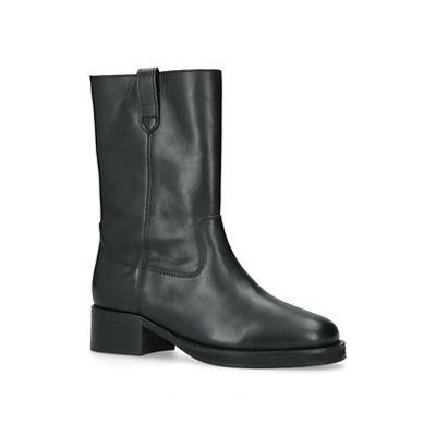 KG Kurt Geiger - Black 'Terry' leather boots