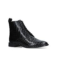 KG Kurt Geiger - Black 'Tilda' croc print lace up boots