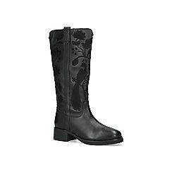 KG Kurt Geiger - Black 'Winnie' embroidered leather boots
