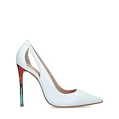 Carvela - White 'Alexis' Stiletto Rainbow Heel Court Shoes