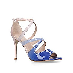 Carvela - Blue 'Gizelle' stiletto heeled peep toe shoes
