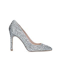 Carvela - Metallic 'Kestral 2' silver stiletto heeled court shoes