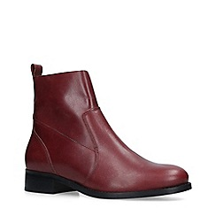 Carvela - Wine 'Sail' Leather Ankle Boots