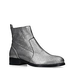 Carvela - Metallic 'Sail' Block Heel Ankle Boots
