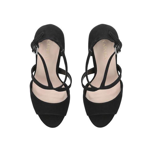 stiletto heeled 'Jetty' Black toe open sandals Carvela Eq0vw