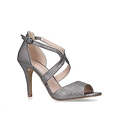 Carvela - Metallic 'Jetty' stiletto heeled open toe sandals