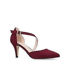 Carvela - Wine 'Kitey' suedette mid heel court shoes