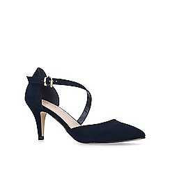 Carvela - Navy 'Kitey' suedette mid heel court shoes