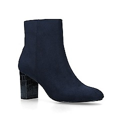 Carvela - Navy 'Simmer' mid heel ankle boots