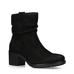 Carvela - Black 'Trent' Slouched Block Heel Ankle Boots