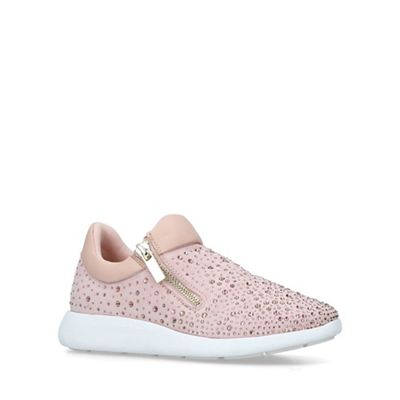 Aldo   Nude 'drirenia' Embellished Low Top Trainers by Aldo