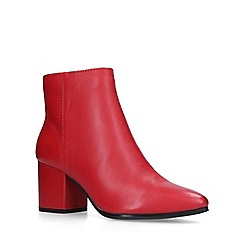 Aldo - Red 'Fralissi' leather block heel ankle boots