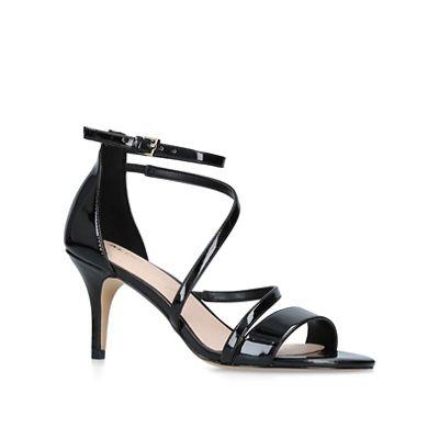 a2a0c0e8a003 Aldo Black  Onalinia  patent heeled sandals