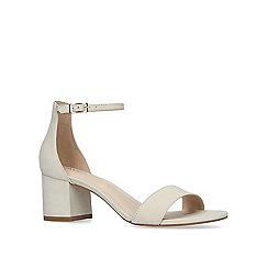 a84b09ea1ac ALDO - Cream  Villarosa  leather block heel sandals