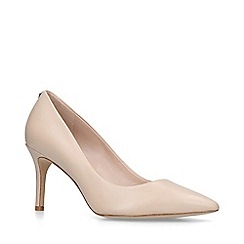 ALDO - Nude 'Coroniti' leather high heel court shoes