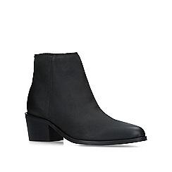 KG Kurt Geiger - Black 'Tulip' leather ankle boots