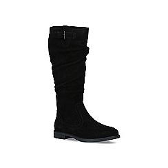 Nine West - Black 'Candid' low heel high leg boots