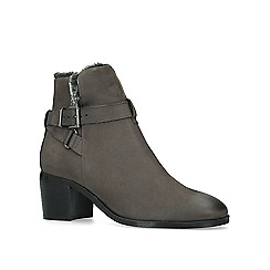 Nine West - Grey 'Crave' leather block heel ankle boots