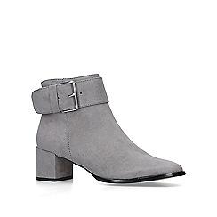 Nine West - Grey 'Castle' low heel ankle boots