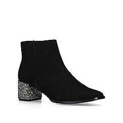 Nine West - Black 'Chaos' low heel ankle boots