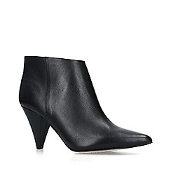Vince Camuto - Black 'Adriela' leather cone heel ankle boots