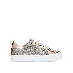 Carvela - Bronze 'Judd' embellished low top trainers
