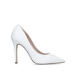 Carvela - White 'Krisp' stiletto heel court shoes
