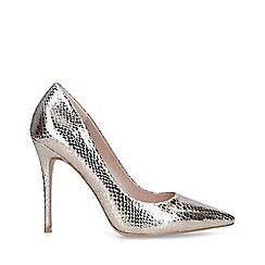 Carvela - Metallic 'Krisp' Gold Stiletto Heel Court Shoes