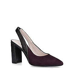 Nine West - Wine 'Arerick' suede slingback court shoes
