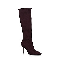Nine West - Wine 'Fetta' Stiletto Heel Knee High Boots