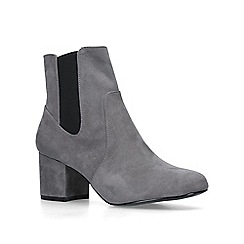 Nine West - Grey 'Quamra' mid heel ankle boots