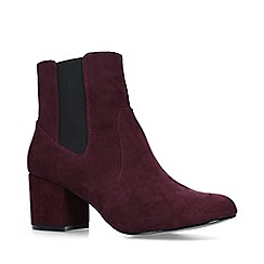 Nine West - Wine 'Quamra' block heel chelsea boots