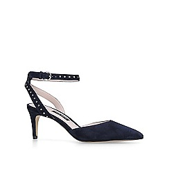 Nine West - Navy 'Susaham' mid heel court shoes