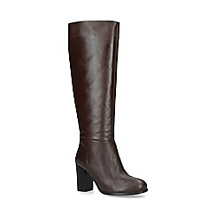 ALDO - Brown 'Exulvie' block heel leather knee boots