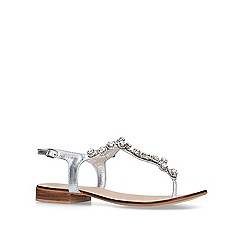 Carvela - Silver 'Bevel' embellished t-bar sandals