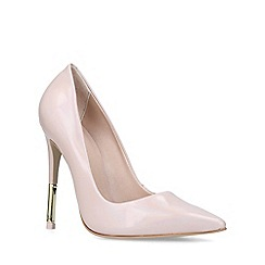 Carvela - Nude 'Allie 3' leather stiletto heel court shoes