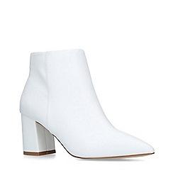Carvela - White 'Sleek' Block Heel Ankle Boots