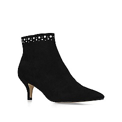 Nine West - Black 'Carbon' suedette embellished ankle boots